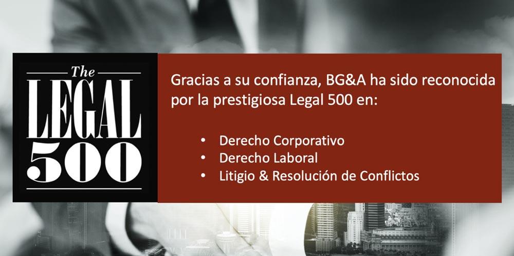 Legal500 BGA 2021 costa rica