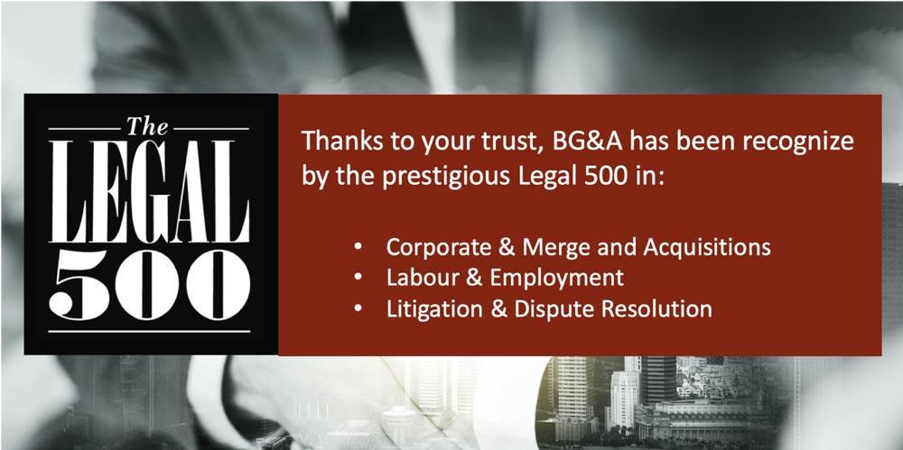 Legal500 BGA costa rica
